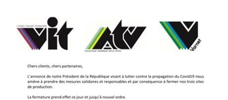 actu_communique-covid19 - VIT spécialiste du vitrage pour les professionnels