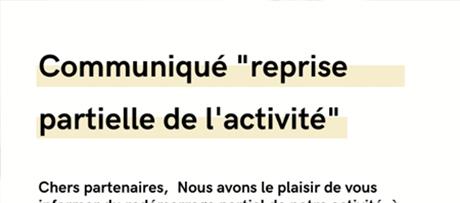 actu_communique-reprise-partielle-activite - VIT spécialiste du vitrage pour les professionnels